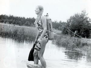 Vēsturiski kadri par ūdenslīdēju sportu Latvijā