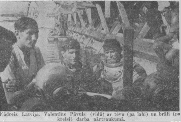 Ūdenslīdejs Valentins Pavuls