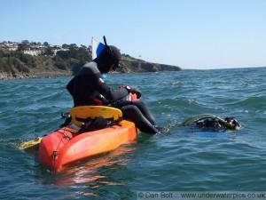 Kajaki un zemūdens niršana