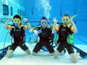 Bērnu vecuma ūdenslīdēju apmācība
