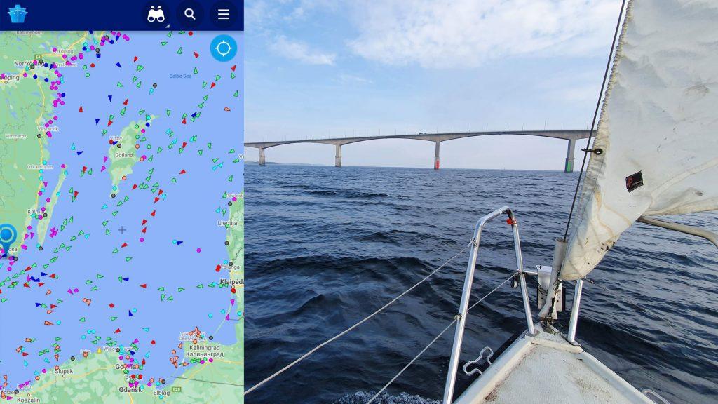 Jahtas pārvešana Zviedrija Gotlande, Baltijas jūras kuģi