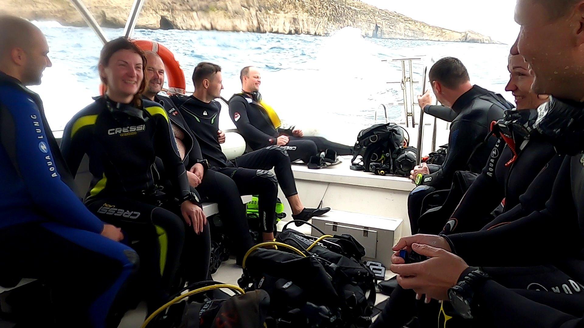 Malta Gozo zemūdens niršana no kuģīša