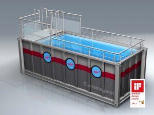 Pārvietojamais konteineru peldbaseins Nagel