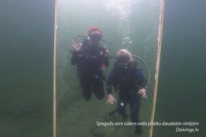 Underwater mirror Dolomite quarry reservoir