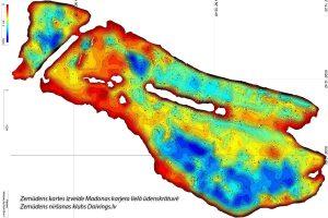 Zemūdens kartes izveide Madonas karjera lielā ūdenskrātuvē