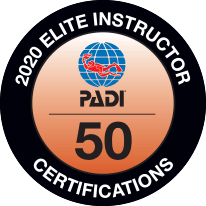 PADI Elite Instructors The award in 2020 was presented to a Latvian instructor