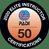 PADI Elite Instruktori Balva 2020 gadā pasniegta Latvijas instruktoram